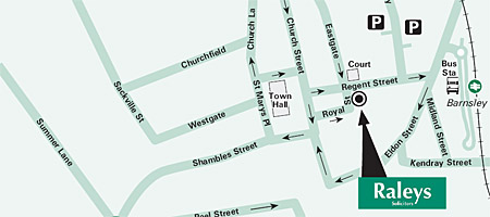 Barnsley Head Office Map